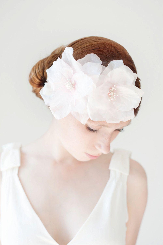 Wedding Headband, Bridal Flower Headband, Wedding Hair Accessory ...