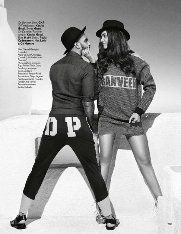 Deepika Padukone And Ranveer Singh Photoshoot For Vogue Magazine October 2015 Deepika Ranveer Deepika Padukone Style Deepika Padukone