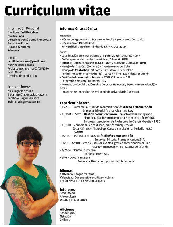 Plantillas Curriculum Vitae Ecro Word Diseno 1 Resume