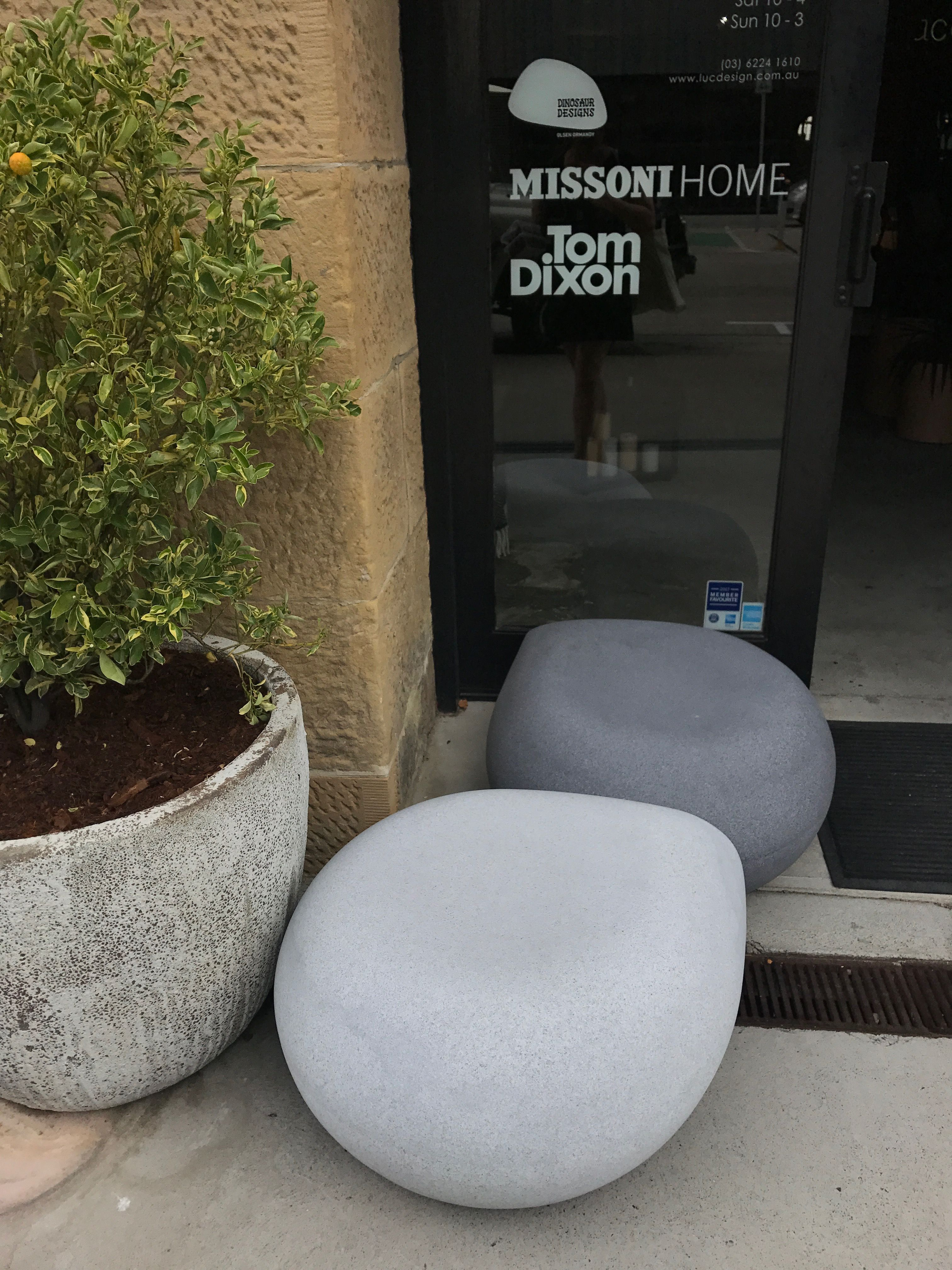 Dinosaur designs rock chair seen in Hobart tasmania in a gallery by ...