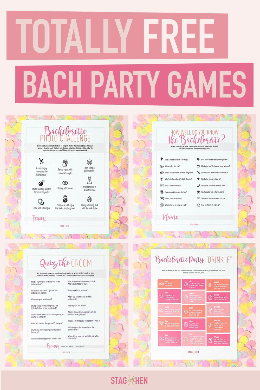 FREE Bachelorette Party Game Printables