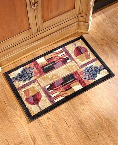 Tuscan Grape Themed Kitchen Rugs Accent Runner Area Stain Resistant Tuscan Kitchen Wine Decor Kitchen Kitchen Rug