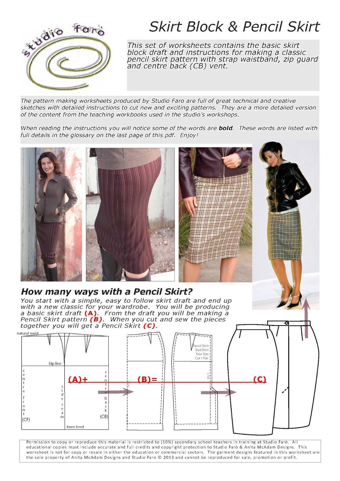Well Suited Skirt Draft And Pencil Skirt Pattern