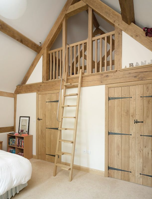 neat mezzanine idea in bedroom for extra storage                                                                                                                                                                                 More #vaultedceilingdecor