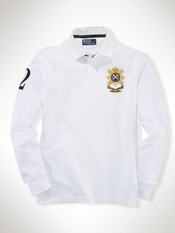 4f1fb966a Custom Pima Black Watch Rugby - Custom-Fit Polo Shirts - RalphLauren.com