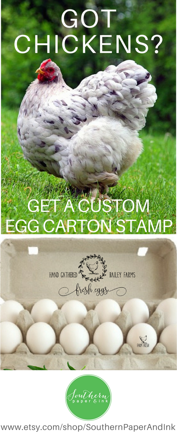 A Personalized Chicken Egg Carton Stamp Is Great Idea For Labeling And Personalizing The Eggs