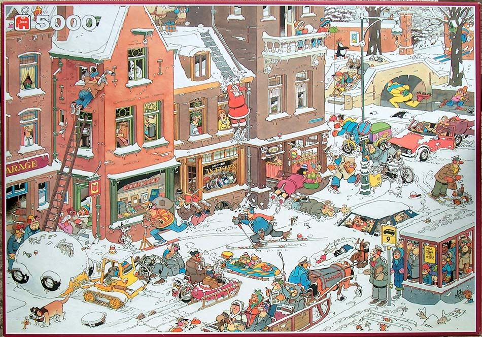 Street life no of pieces 5000 size 157 x 106 artist for Custom 5000 piece puzzle
