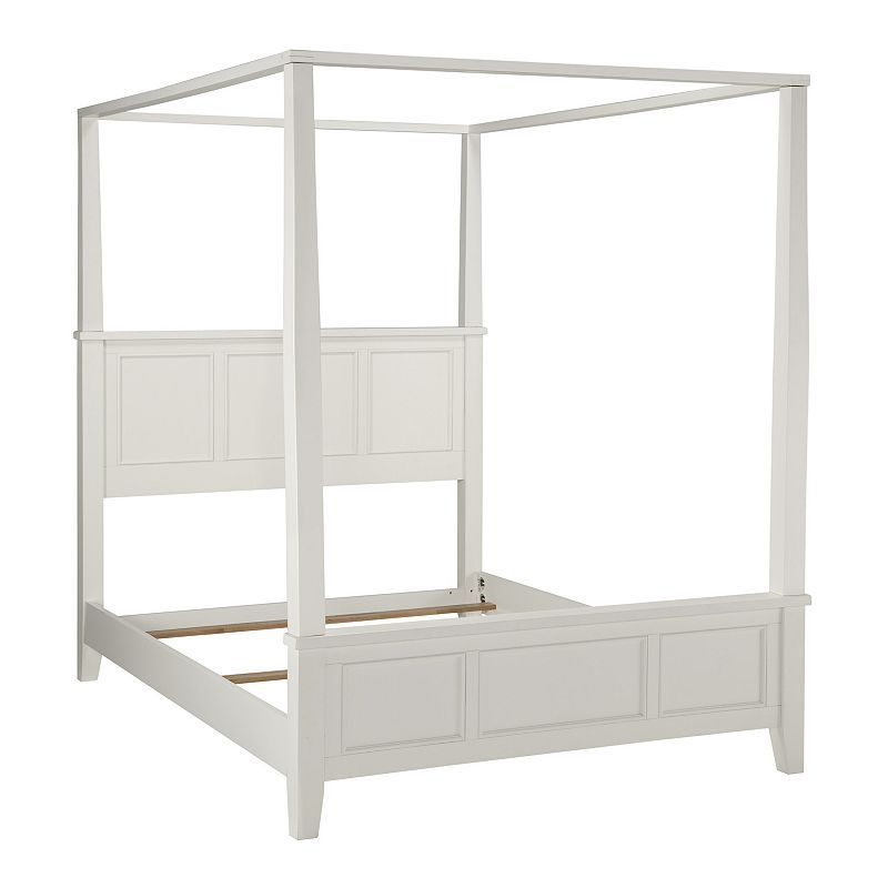 Home Styles Naples 3-pc. Queen Headboard, Footboard and Frame Canopy Bed Set, White