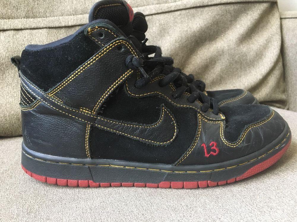 Nike Dunk High Unlucky 13 Black/Black