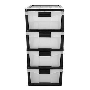 Simply 4 Drawer Storage Cabinet Black Part 69
