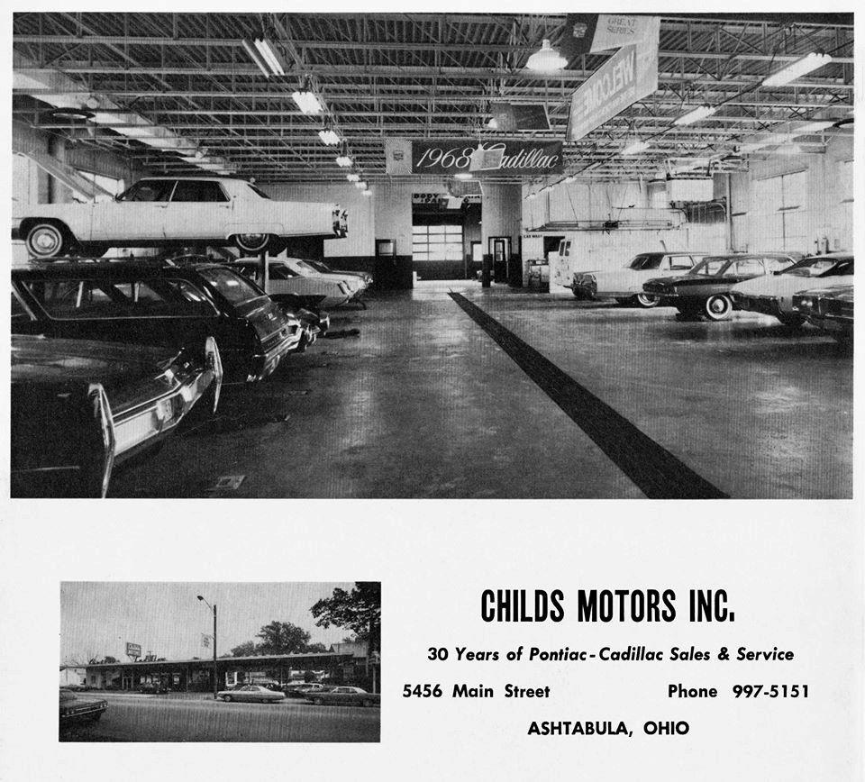 Cadillac Dealerships In Michigan: 1968 Childs Motors Inc Cadillac Dealership, Ashtabula