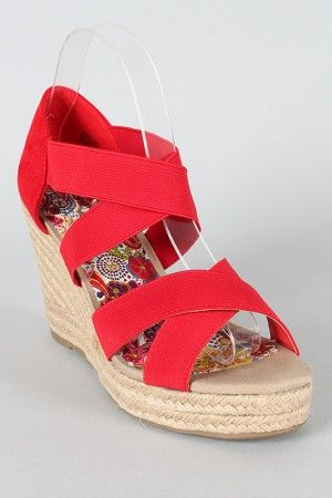 Bamboo Lexi 38 Strappy Espadrille Wedge $27.30 (With images