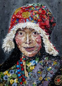 TIbetan Woman at Stupa, from a photograph by Steve McCurry by Jane Perkins