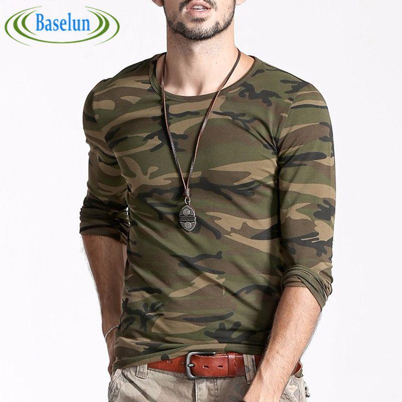 23a63026 T Shirt New Men Printed Camouflage Autumn Fashion Man Camo Cotton Clothing Long  Sleeve Army Green T-shirt Fashion Tees #Affiliate
