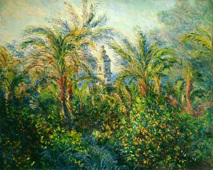 Garden in Bordighera, Impression of Morning, 1884 by Claude Monet. Impressionism. landscape. Hermitage, St. Petersburg, Russia
