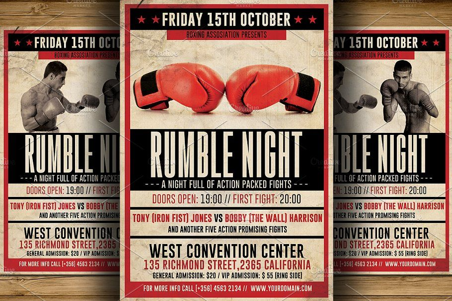 Vintage Boxing Poster Template Google Search Boxing Posters
