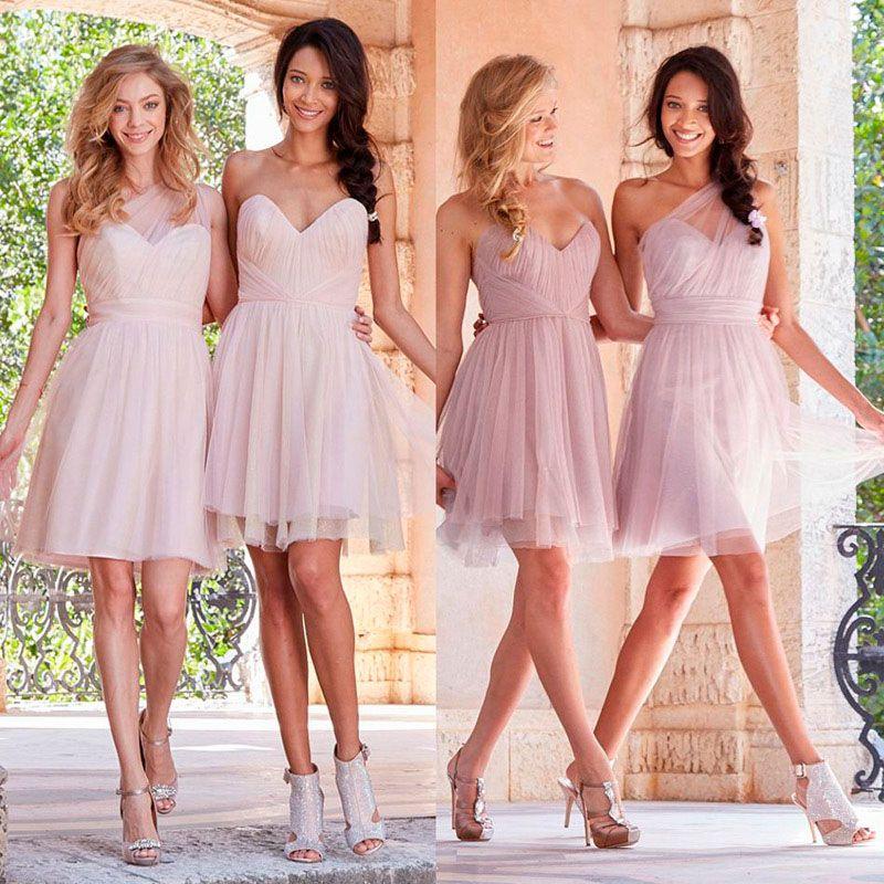 Vestidos cortos de damas de boda