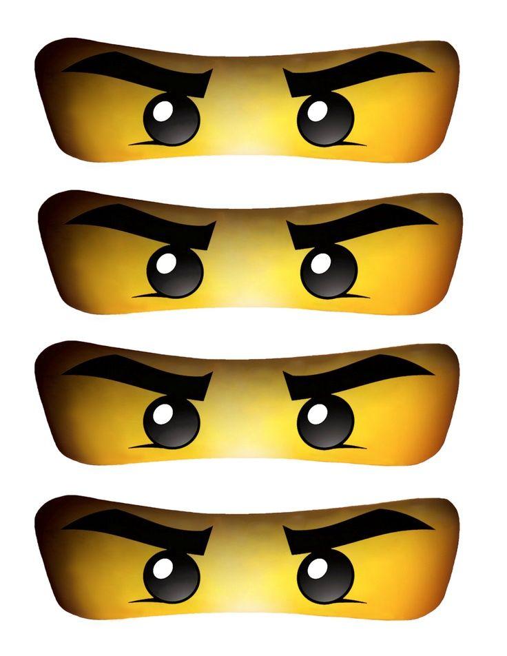 Soft image with printable ninjago eyes
