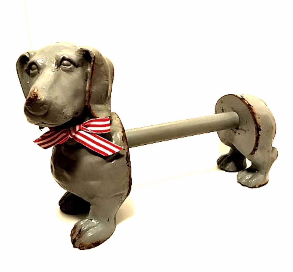 Dachshund Paper Towel Holder Beauteous Antique Dachshund Paper Towel Holder Handcrafted One Of A Kind 14 Inspiration Design