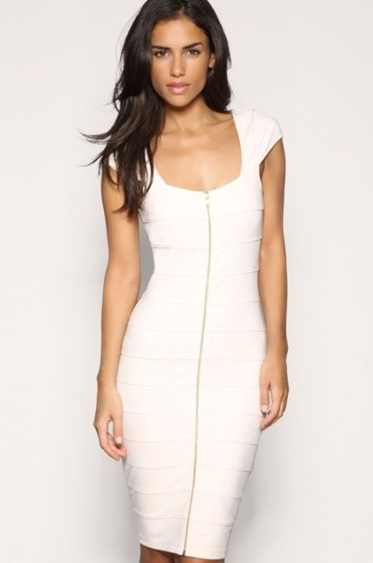 f0e530d89719 A ribbed bodycon contour, the low cut square neck double-face shows your  sexy collarbone and perfect shoulder line. Short sleeves and the front  full-length ...