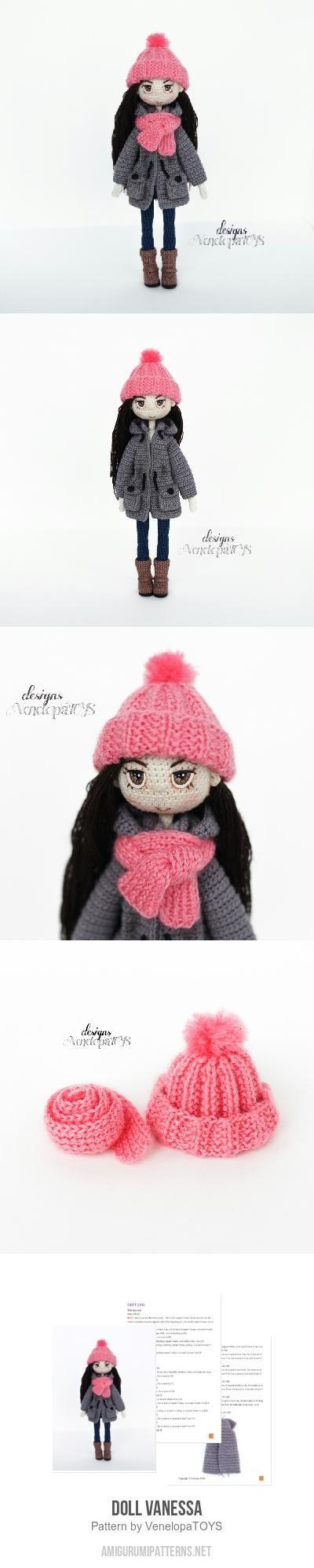 Doll Vanessa amigurumi pattern by VenelopaTOYS | Patrones amigurumi ...