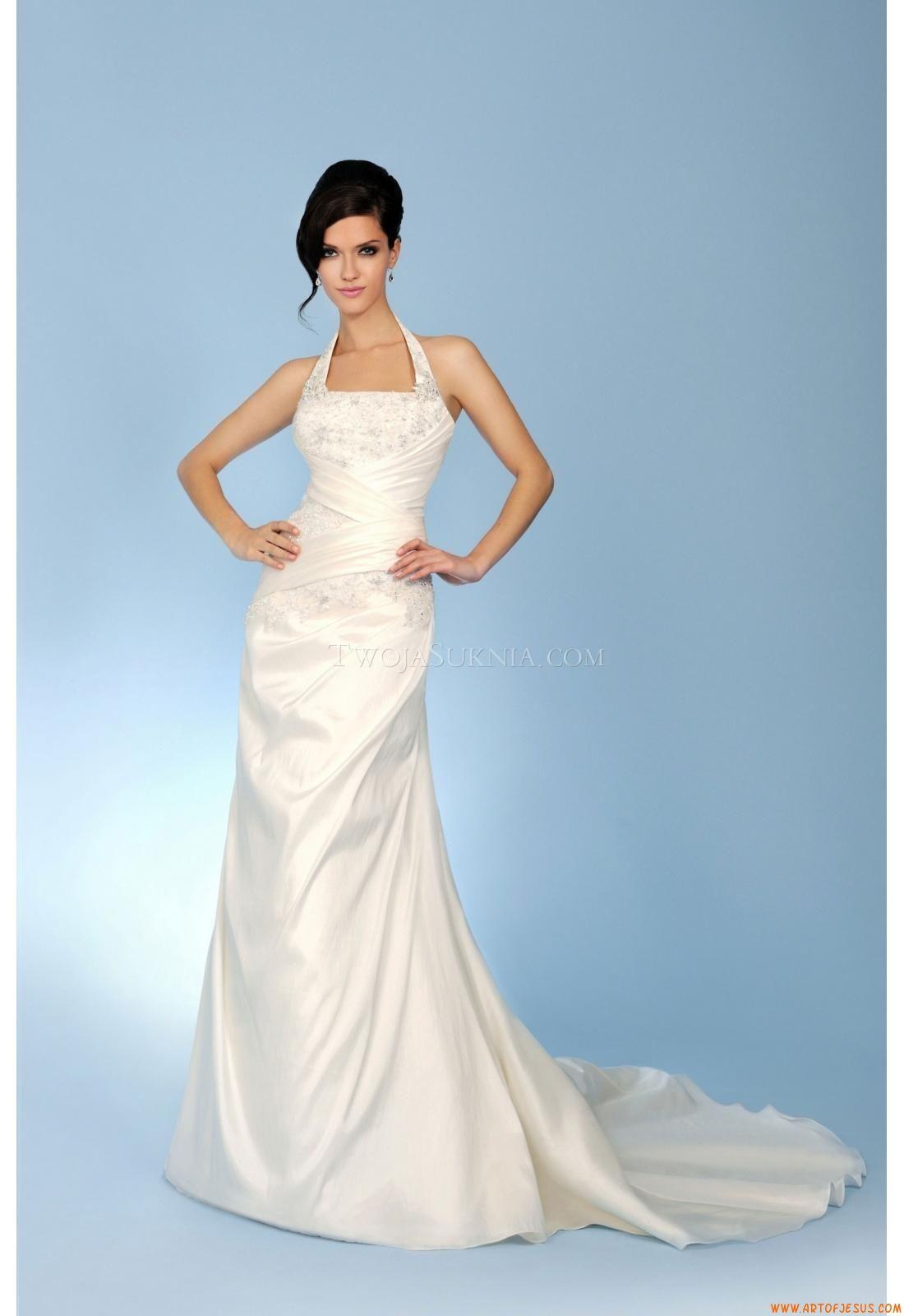 Elegant Halter Sheath Court Train Wedding Dress China Trudy Lee ...