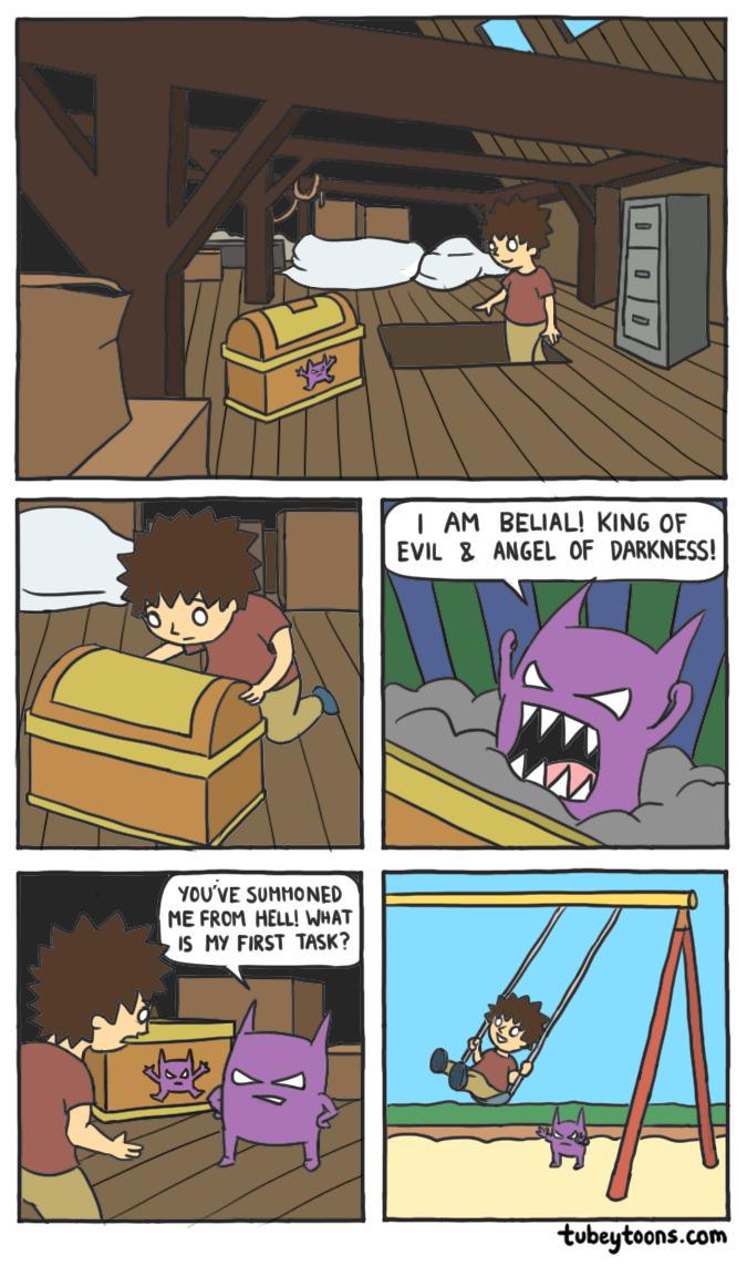 Awakening The Demon Tubey Toons Funny Comicstrip Demon