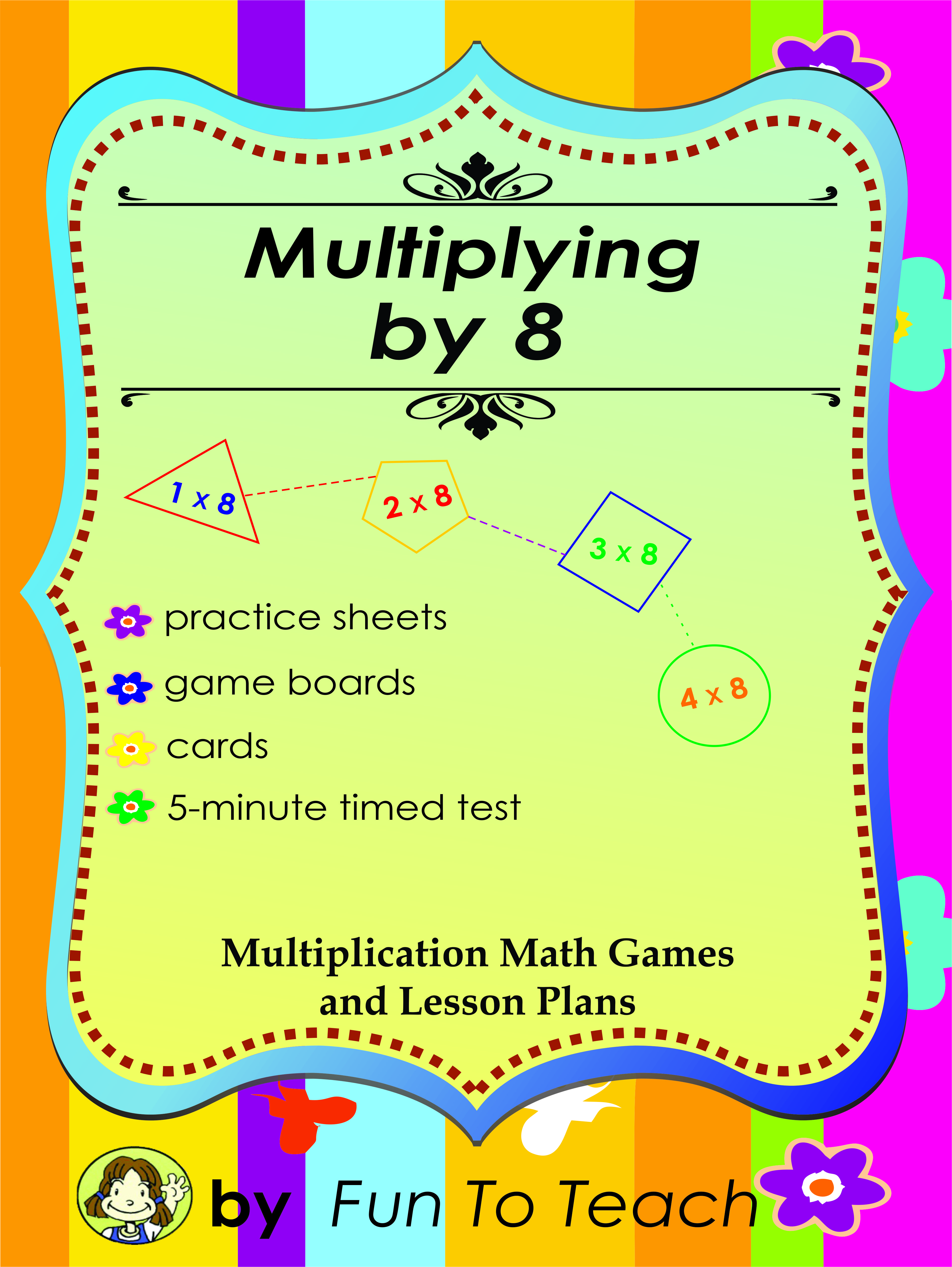Free Multiplying by 8 - Multiplication Math Games and Lesson Plans ...
