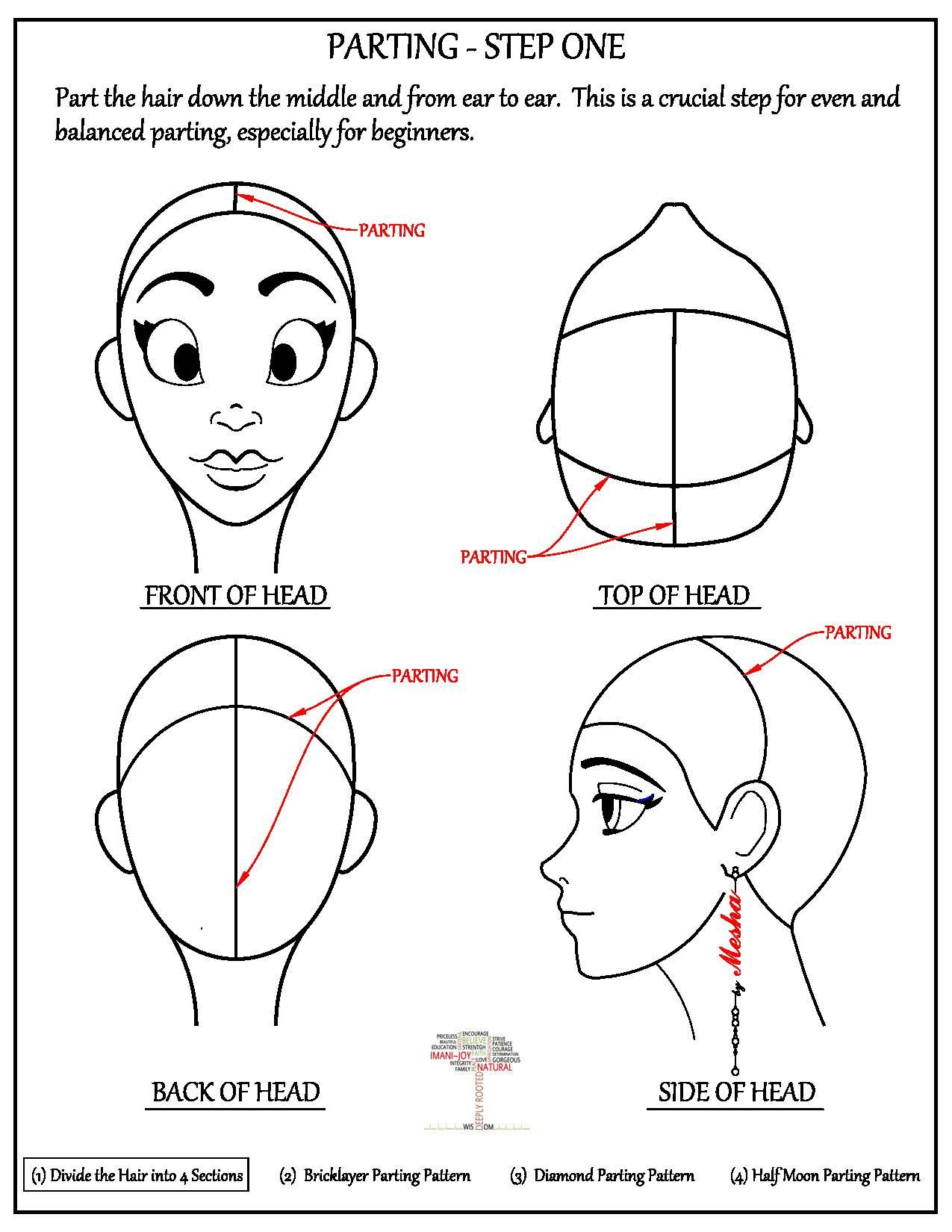 Parting The Hair Bricklayer Pattern Box Braids Tutorial