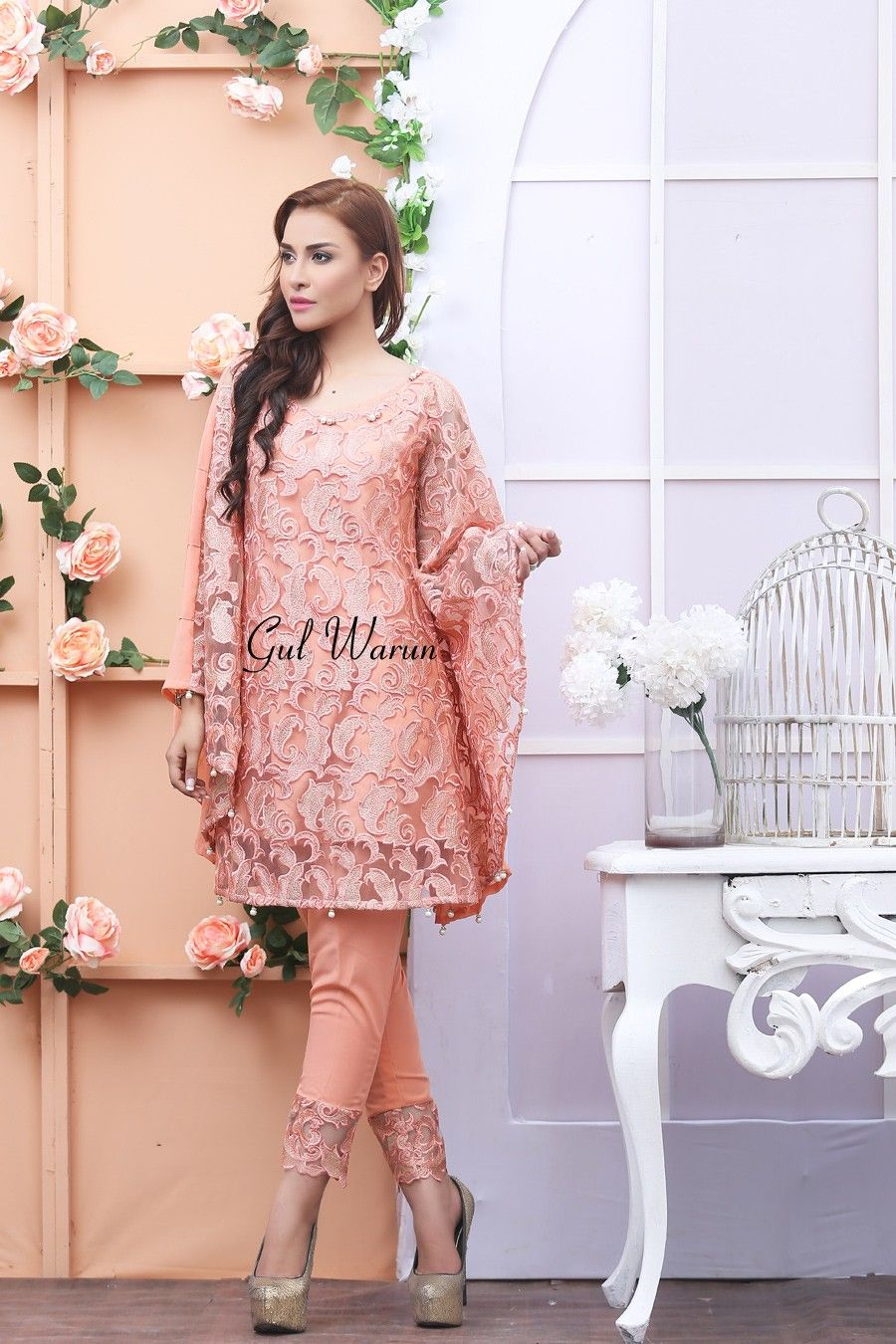 Latest Pakistani Cape Style Dresses 2017-2018 Designer Collection ...