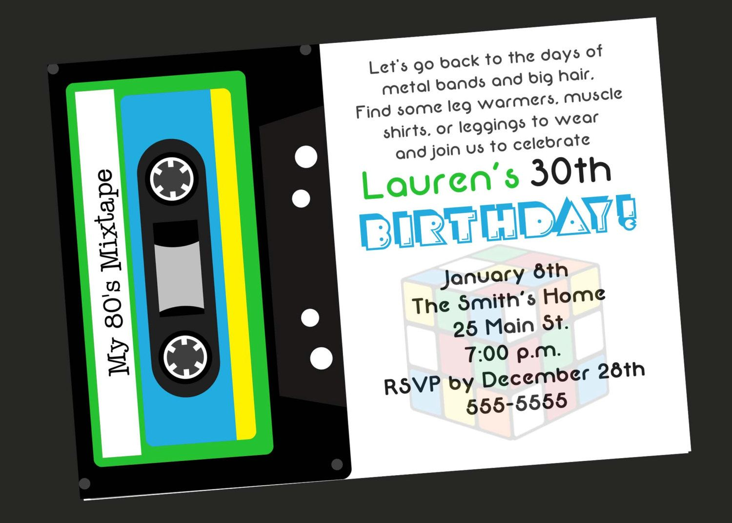 80s party invitation ideas 80s theme 30th birthday party 80s party invitation ideas 80s theme 30th birthday party invitation by simplyprintable filmwisefo