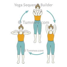 standing shoulder rolls bent elbows yoga  yoga sequences