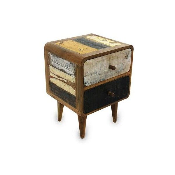 NOVICA Vintage Look Side Table In Reclaimed Teakwood (22.175 RUB) ❤ Liked  On Polyvore Featuring Home, Furniture, Tables, Accent Tables, Homedecor,  Vintage ...