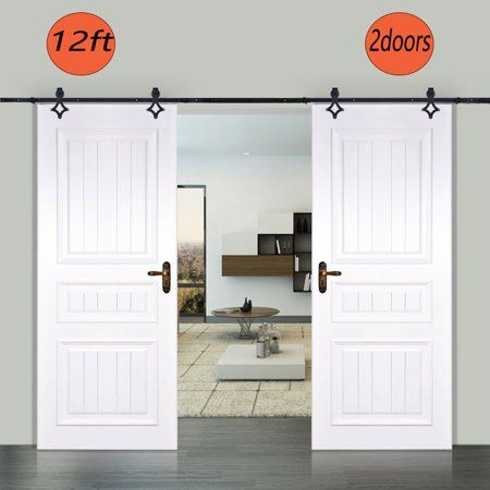Mini Barn Door Hardware Kit For Double Cabinets Tv