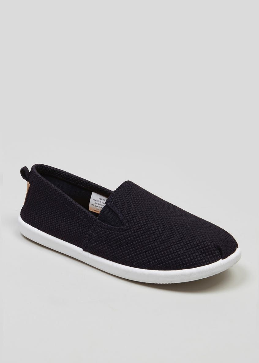 a652033d8127 Kids Slip On Canvas Pumps (Younger 10-Older 6) – Navy – Matalan