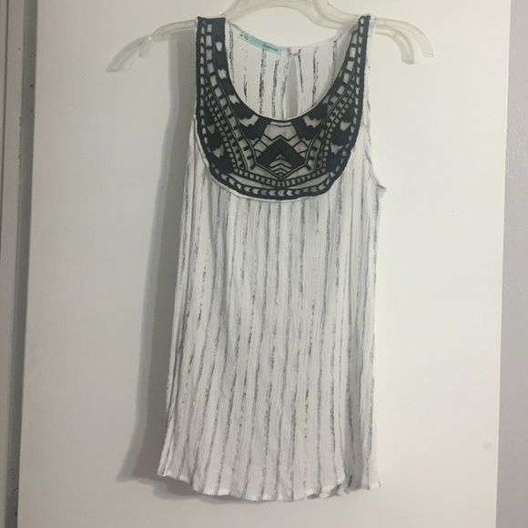 Distressed black and white tank Distressed black and white tank Maurices Tops Tank Tops