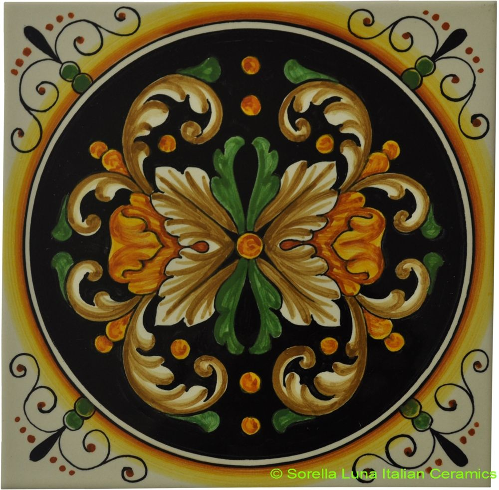Hand Painted Italian Ceramic Tiles In 2019 Art Nouveau