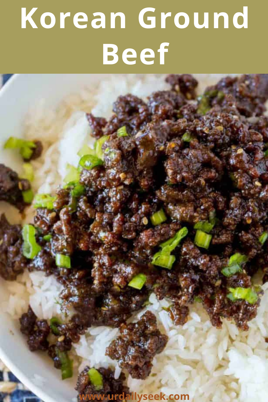 Korean Ground Beef In 2020 Dinner With Ground Beef Korean Ground Beef Beef Dinner