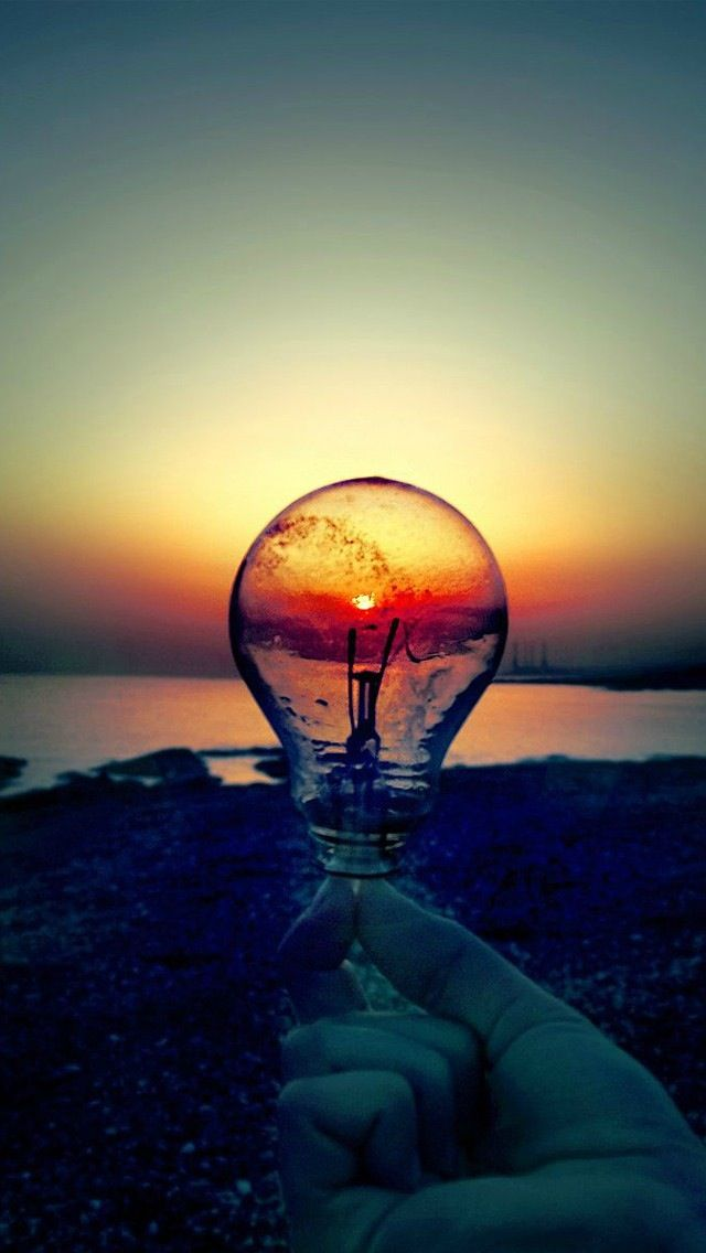 PHOTOGRAPHY LIGHT BULB REFLECTION SUN SET SUN RISE ...