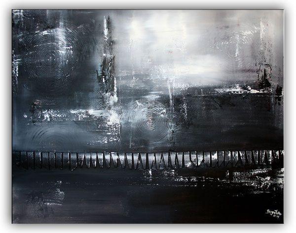 barriere abstrakte kunst gem lde schwarz wei handgemalt in acryl kunst malerei pinterest. Black Bedroom Furniture Sets. Home Design Ideas