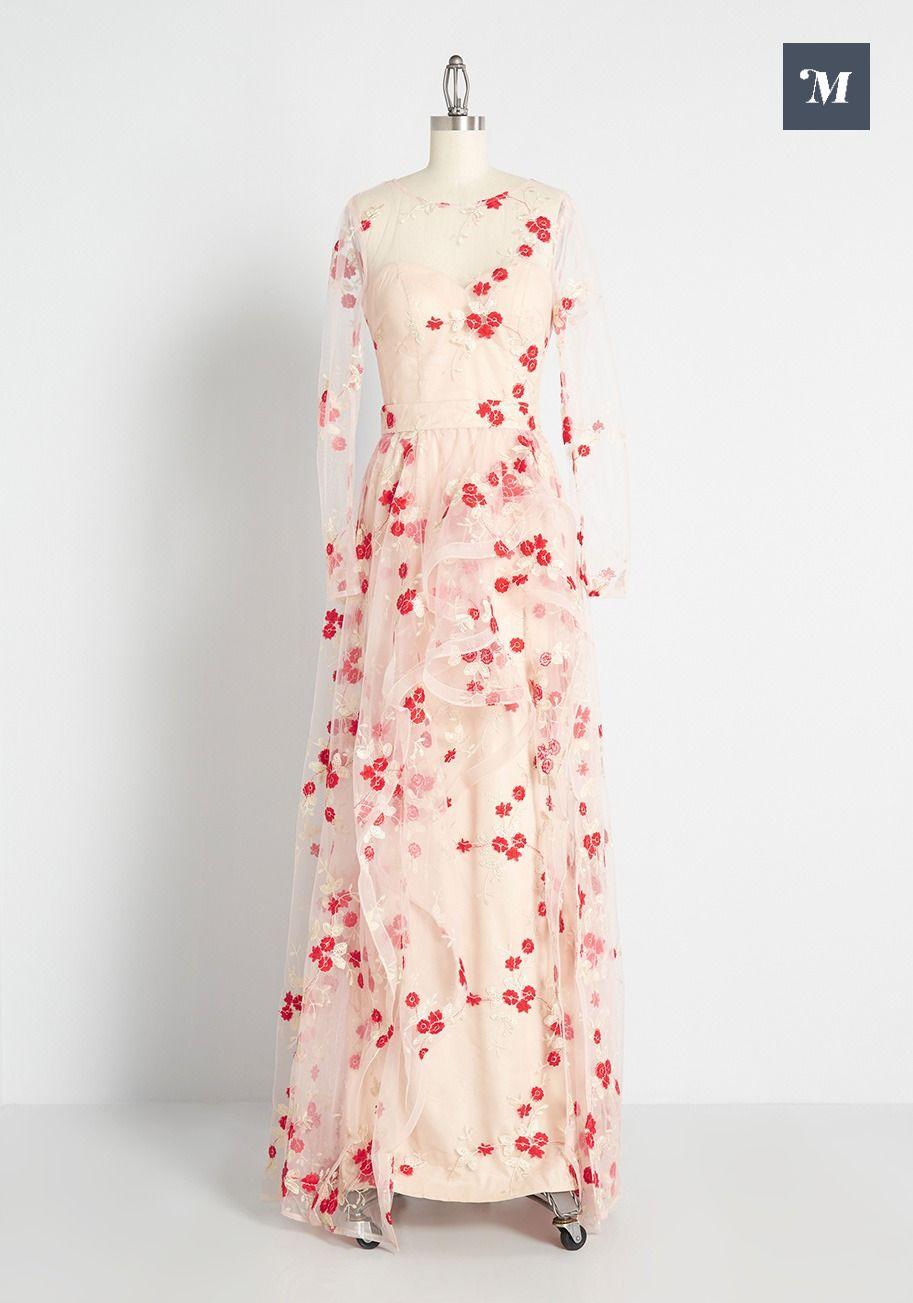Cherry Blossom Skies Maxi Dress Maxi Dress Dresses Mod Cloth Dresses [ 1303 x 913 Pixel ]
