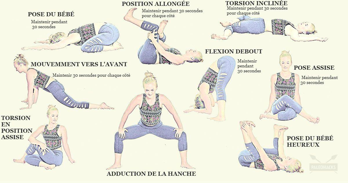 9 Étirements faciles pour soulager la douleur au bas du dos et aux hanches 542d631a587