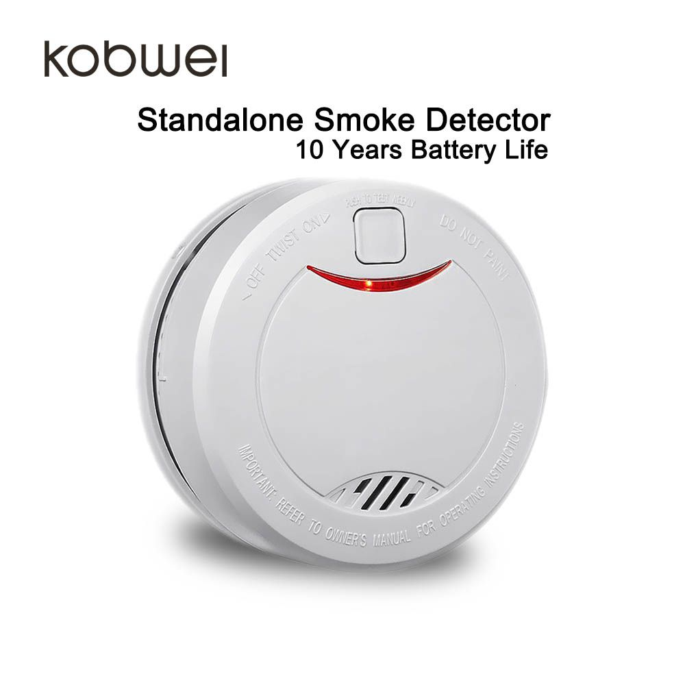 10 Year Battery Life Standalone Smoke Detector Fire Alarm For Home Office Factory Store Warehouse Certifed With En146 Fire Detectors Fire Protection Fire Alarm