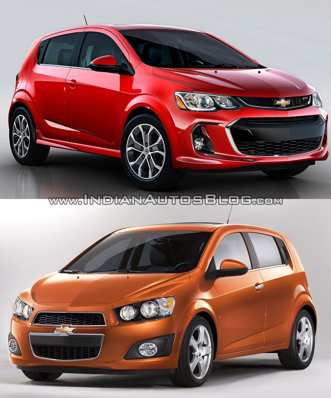 2017 Chevrolet Sonic Facelift Old Vs New Chevrolet Sonic Chevrolet Sonic