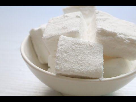 Honey Marshmallows  - YouTube   10g Gelatin  120g Water 150g Sugar 100g Honey(or Starch syrup)