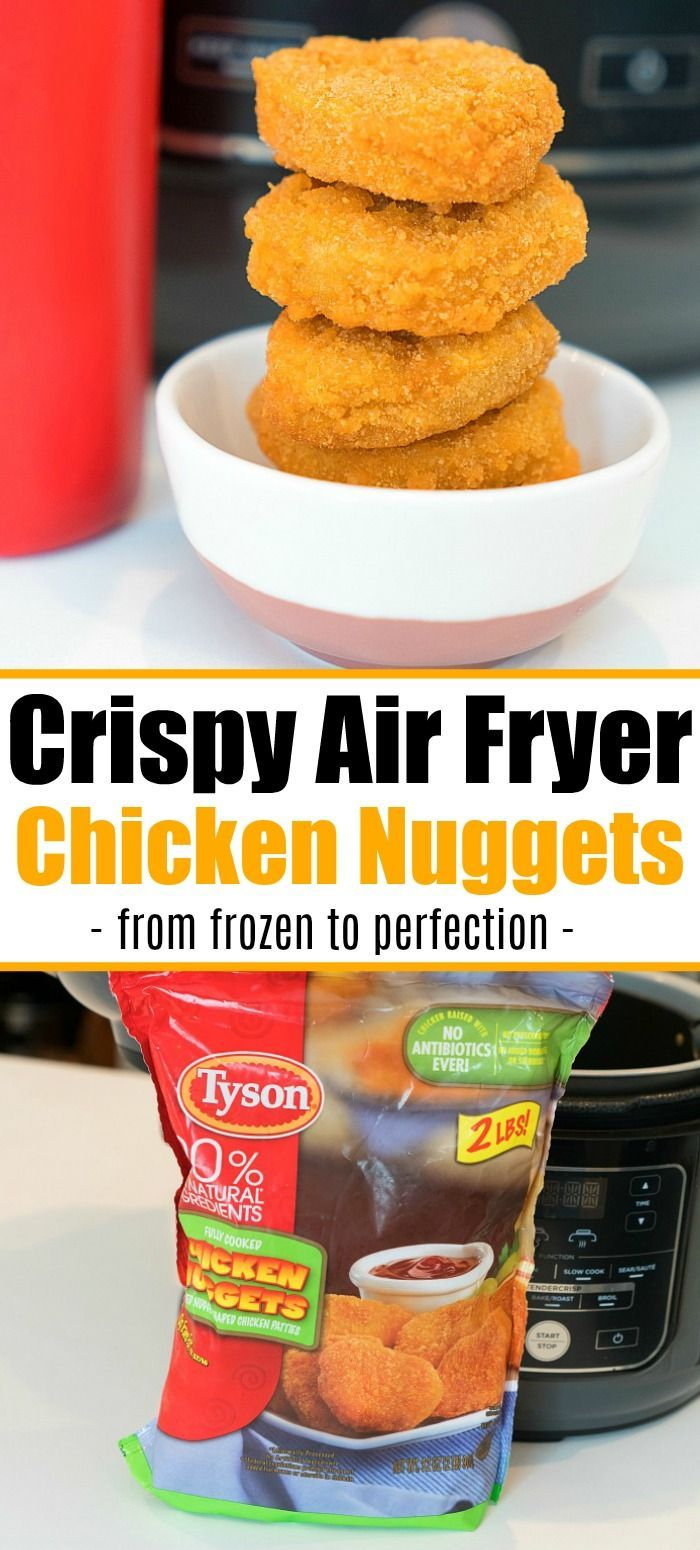 Air fryer frozen chicken nuggets in your Ninja Foodi or