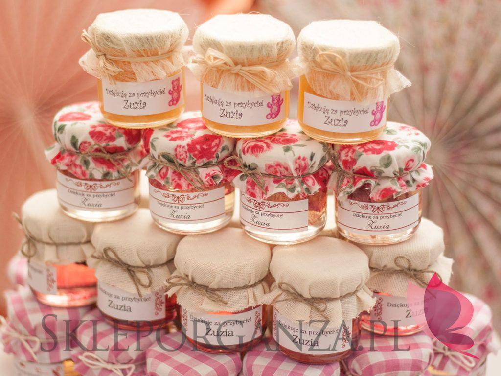 Upominki Dla Gosci Na Chrzest Swiety Zuzi With Images Table Decorations Decor Wedding
