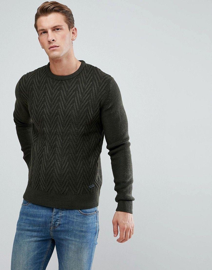 Brave Soul Mens Sweatshirt Crew Neck Jumper Knitted Pullover Warm Winter Sweater