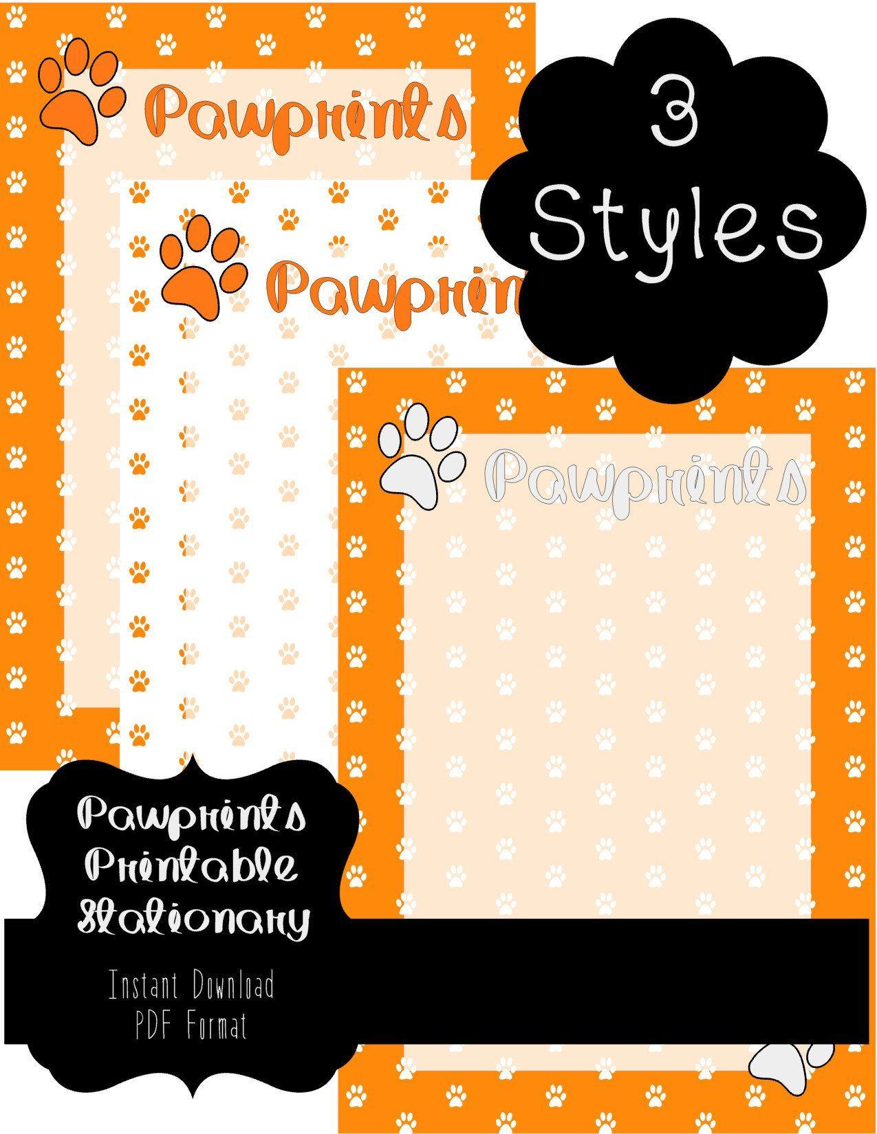 Pawprints In Orange