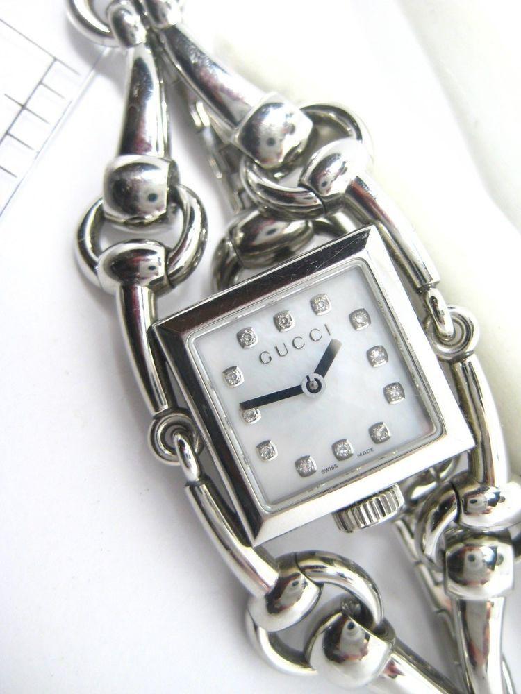 42360412d1d Ladies Gucci Watch Signoria Horsebit Mother of Pearl Face Diamonds  Gucci   DressFormal